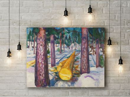 Edvard Munch The Yellow Log. Fine Art Canvas.